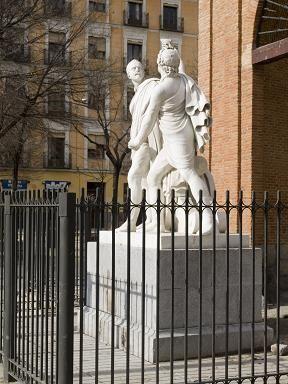 Monumento a Daoíz y Velarde, en el Dos de Mayo
