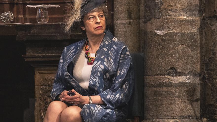 Theresa May, en el día de la Commonwealth, el 11 de marzo pasado.