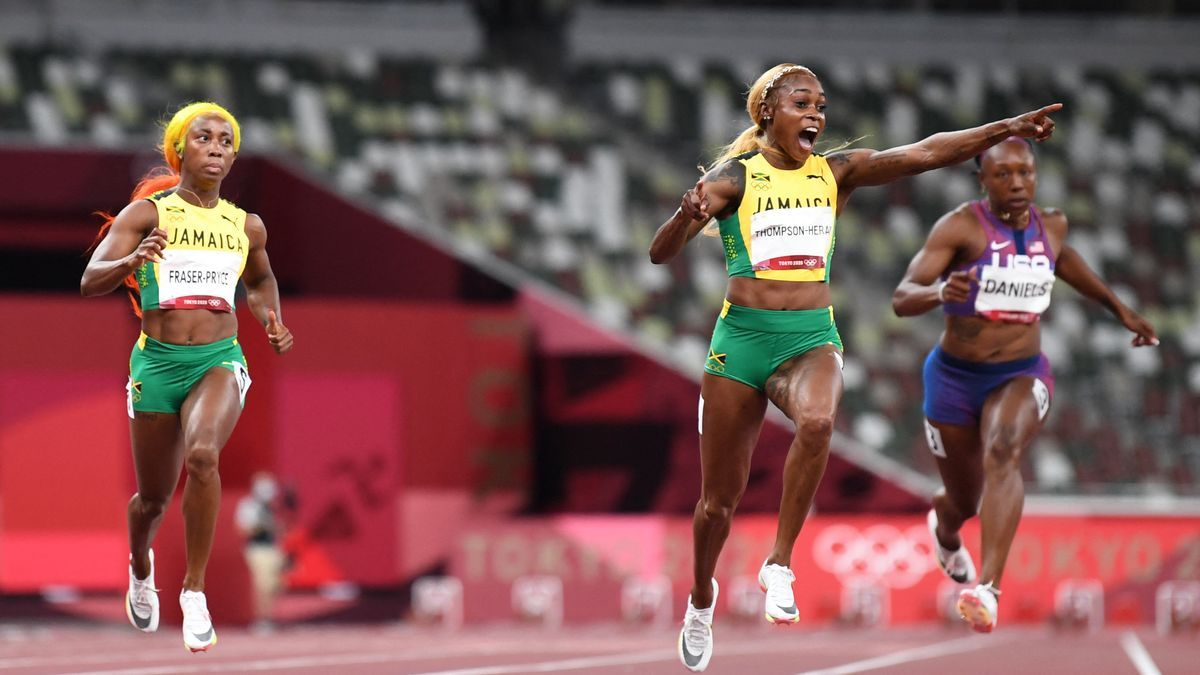 La jamaiquina Elaine Thompson-Herah ganó el oro en 100 metros llanos
