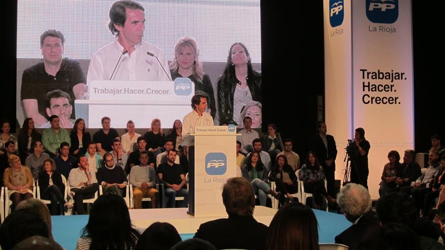 """Aznar alerta ante la pujanza de C's: """"El voto útil, responsable y seguro de estas elecciones es el del PP"""""""