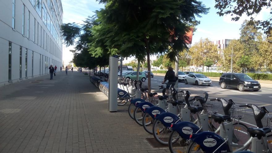 Una estación del Valenbisi de Valencia