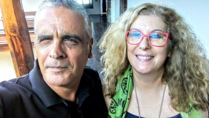 Santiago Jorge junto a Lucy Gómez.