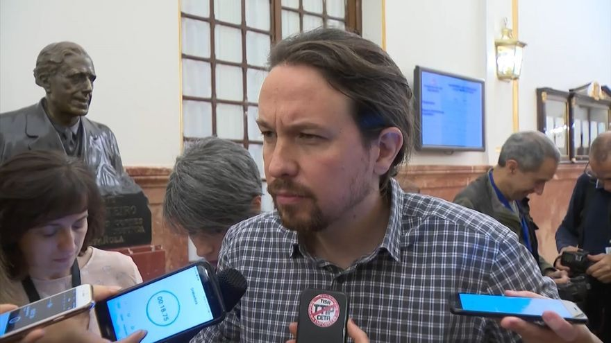 """Pablo Iglesias rechaza las """"excusas"""" del PNV para apoyar los PGE con el 155 vigente y les acusa de """"mentir"""""""