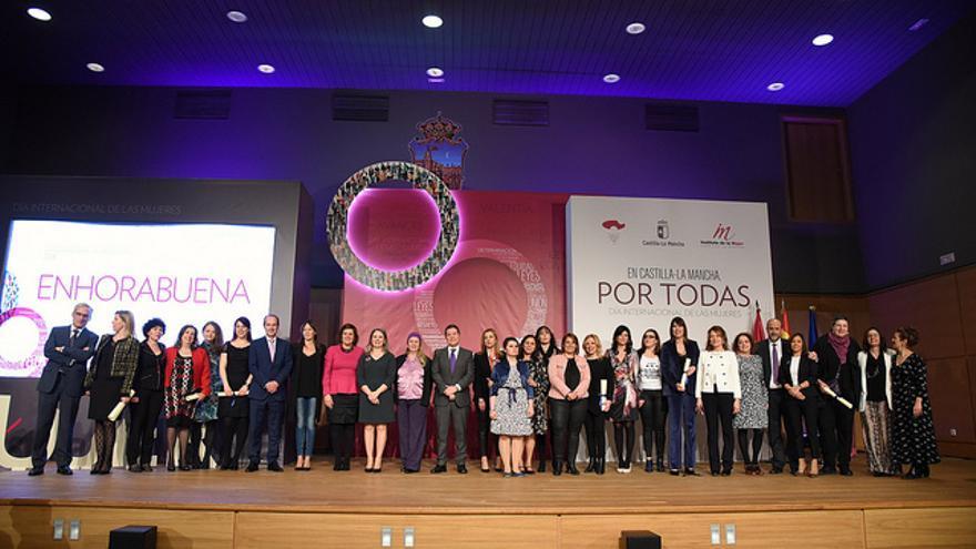 Todas las premiados en el acto castellano-manchego por el 8M