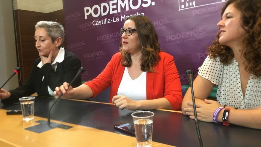 De izquierda a derecha, Ana Navarrete, María Díaz y Sofía Castañón