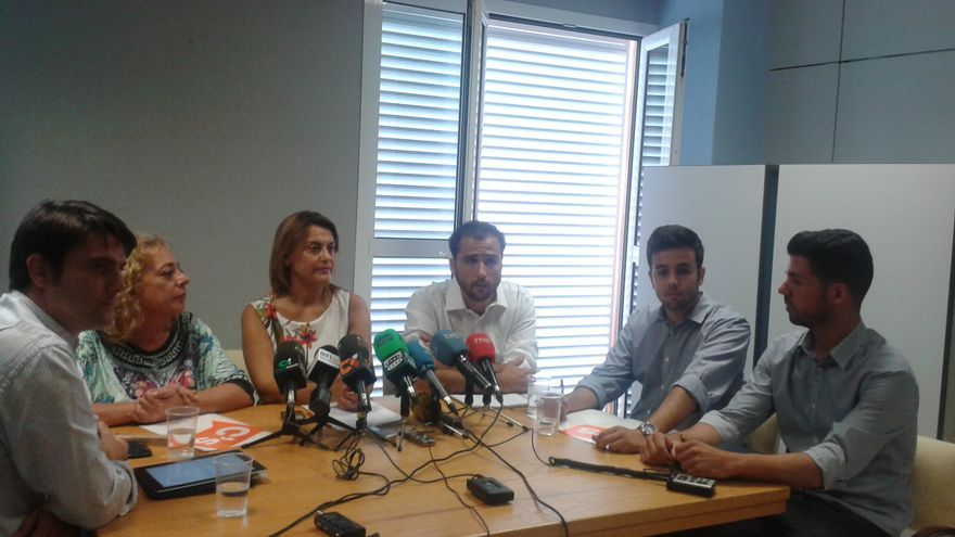 Rueda de prensa conjunta del Partido Popular, Ciudadanos y Unidos por Gran Canaria (CEDIDA)