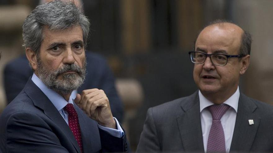 Lesmes expresa apoyo a los jueces de Cataluña ante la sala de gobierno del TSJC