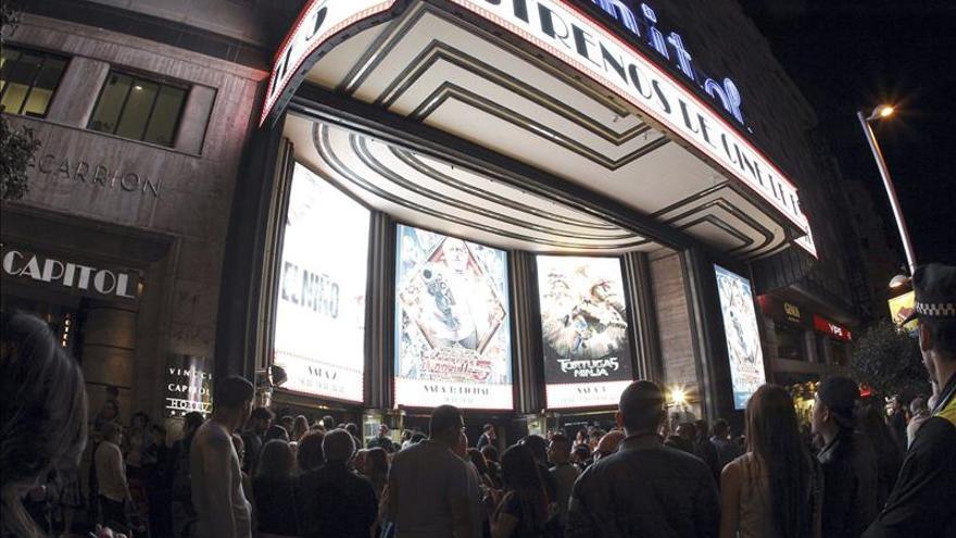 La afluencia al cine en España crece un 15 por ciento hasta noviembre