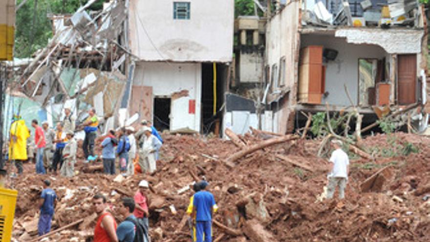 Las lluvias causan estragos en el estado de Río de Janeiro. (EUROPA PRESS)