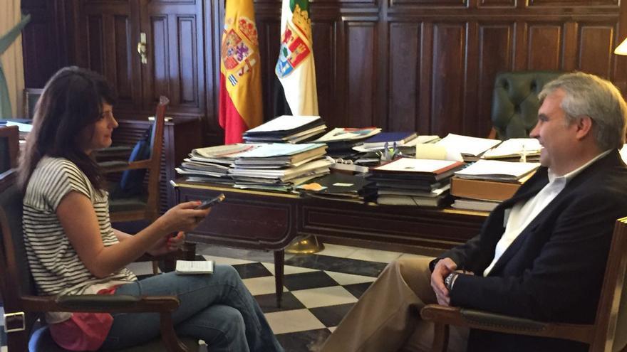Fragoso, durante un momento de la entrevista con eldiario.es