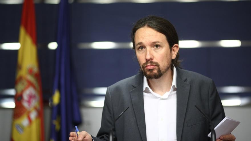 """Pablo Iglesias dice que aunque el 1-O sea una """"movilización política legítima"""", hay que """"proteger a las instituciones"""""""
