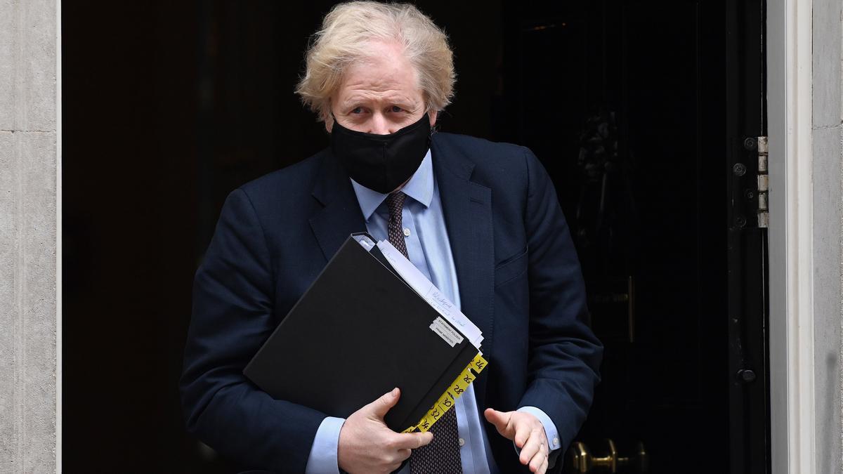 El primer ministro brtánico, Boris Johnson, este martes en Londres.