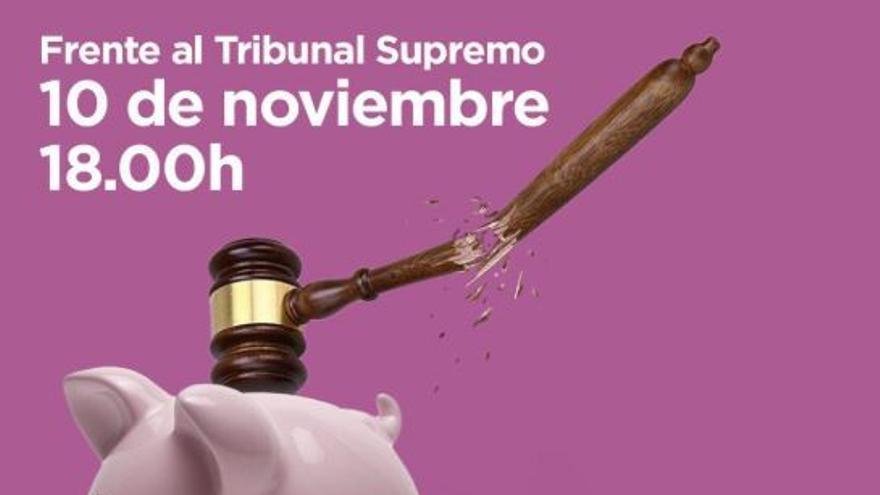 Cartel de convocatoria frente el Supremo en Madrid