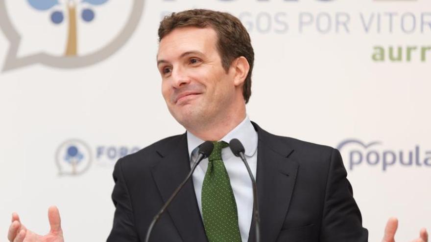 Casado defiende el Concierto vasco porque beneficia a Euskadi y es legal