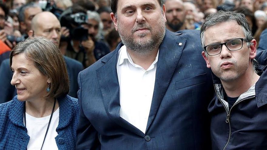 Josep Maria Jové, junto a Junqueras tras salir en libertad el pasado 22 de septiembre