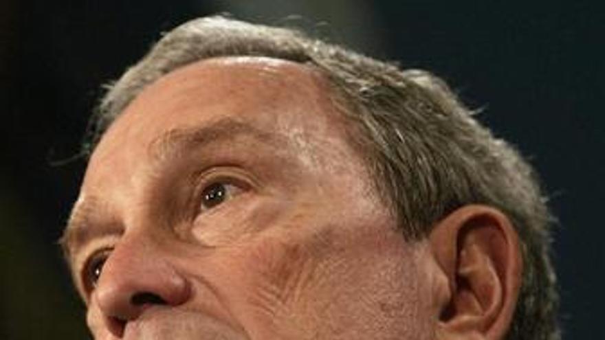 Primer plano del alcalde de Nueva York, Michael Bloomberg