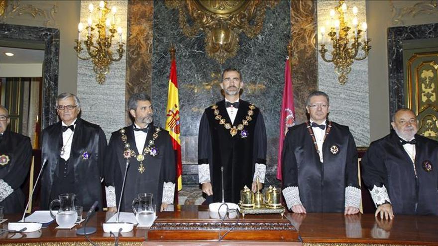 Cataluña y la corrupción centran el discurso de Lesmes en la apertura del Año Judicial