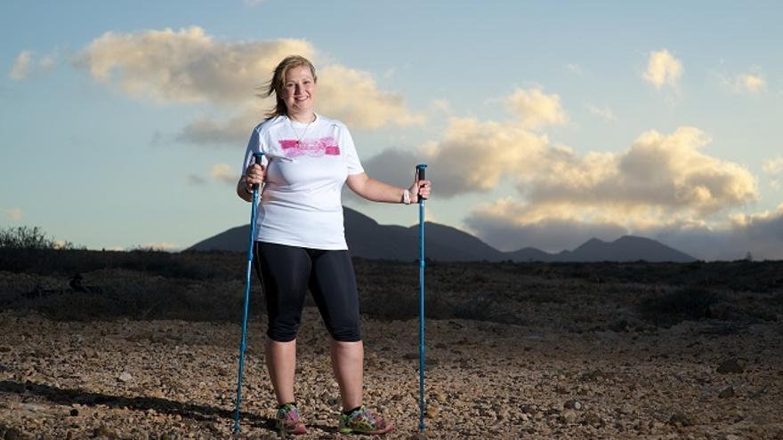 Vanesa Muñoz participará en el reto deportivo 'Todos somos el cáncer', en septiembre. Foto: Carlos de Saá.