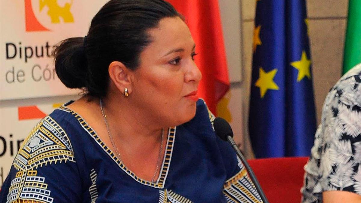 La vicepresidenta Primera y delegada de Asistencia Económica con los Municipios y Mancomunidades de la Diputación, Dolores Amo.