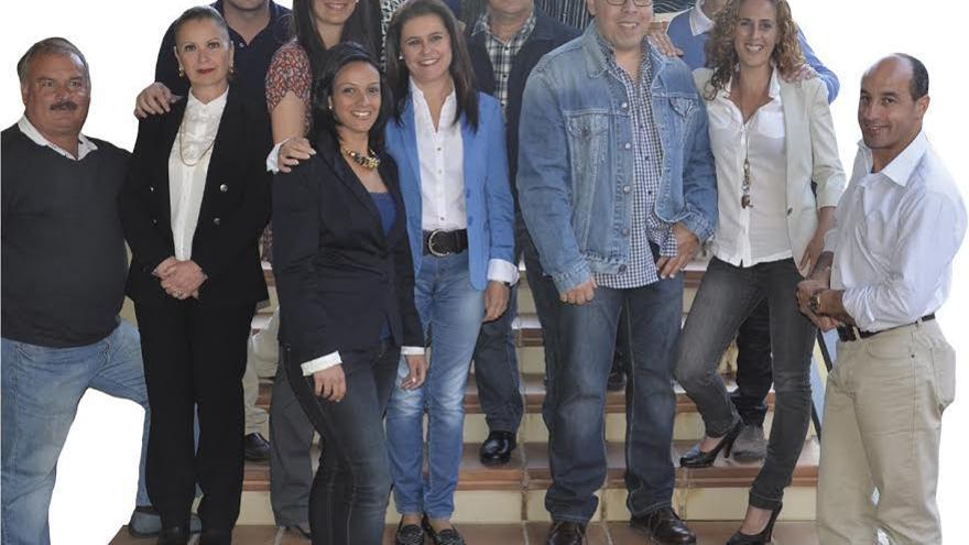 En la imagen, miembros de la lista del PP al Ayuntamiento de El Paso.