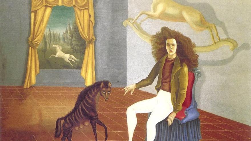 Leonora Carrington nació en Inglaterra en 1917. A los 20 años pintó 'Autorretrato en la posada del caballo del alba', una de sus obras más conocidas, mientras vivía con Max Ernst en la campiña francesa.