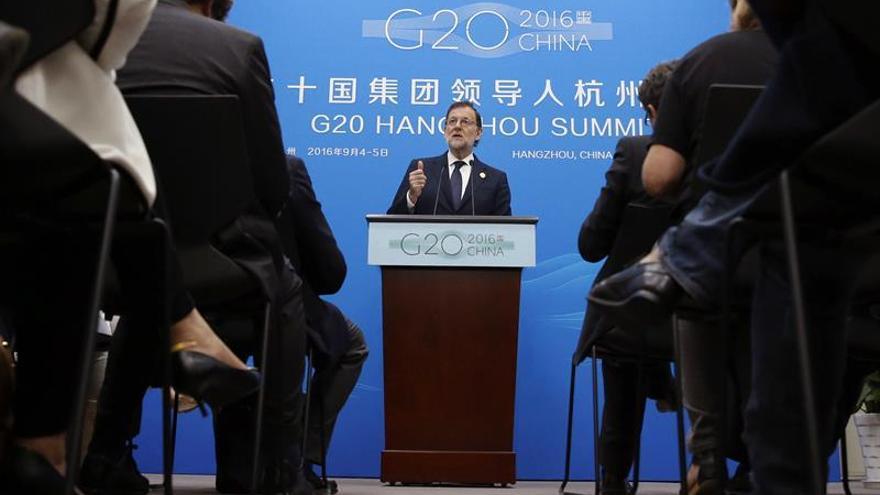 Rajoy considera que las conclusiones del G20 avalan su politica económica