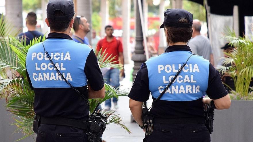 Imagen de archivo de agentes de la Policía Local de Santa Cruz de Tenerife.