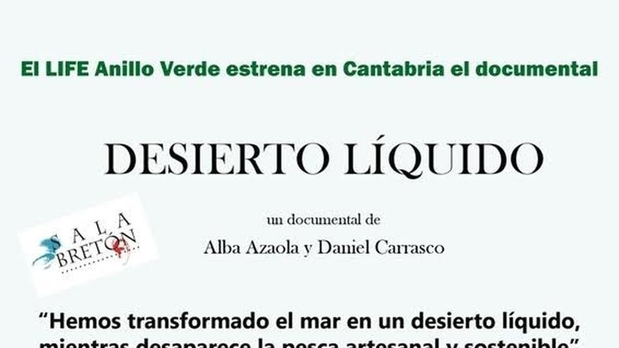 El documental 'Desierto líquido' recala en la Sala Bretón para alertar de los problemas de la sobrepesca