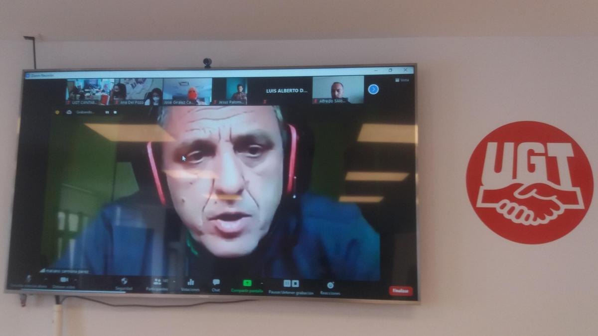 Carmona ha participado por vía telemática al estar confinado por un contacto estrecho con positivo durante la negociación en SEG Automotive