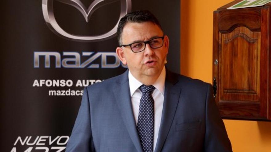 Manuel Sánchez, durante una comparecencia de prensa