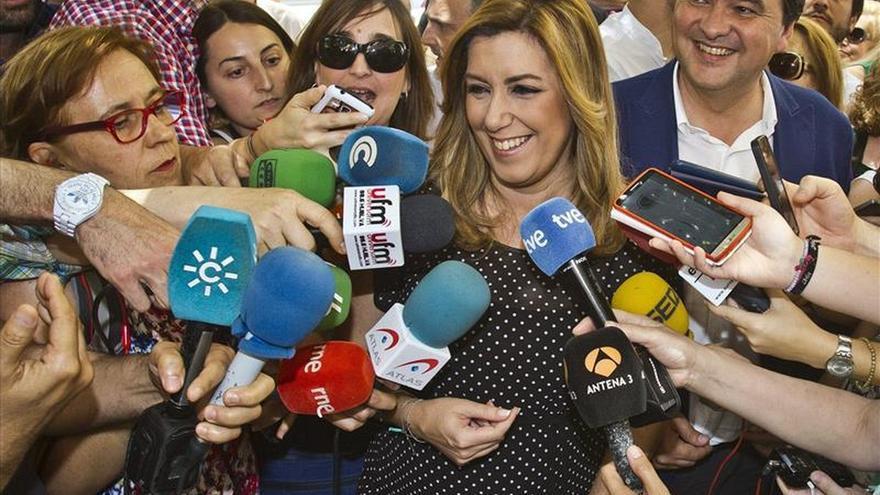Pedro Sánchez sigue en Andalucía mientras Susana Díaz viaja a Asturias