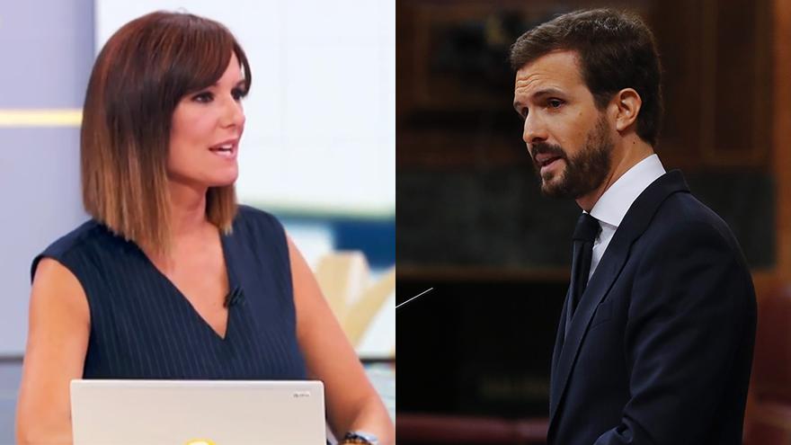 Mónica López y Pablo Casado