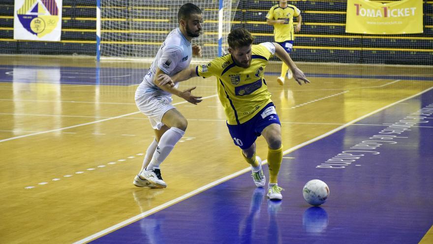 Imagen del encuentro entre el Gran Canaria FS y el Santiago Futsal.