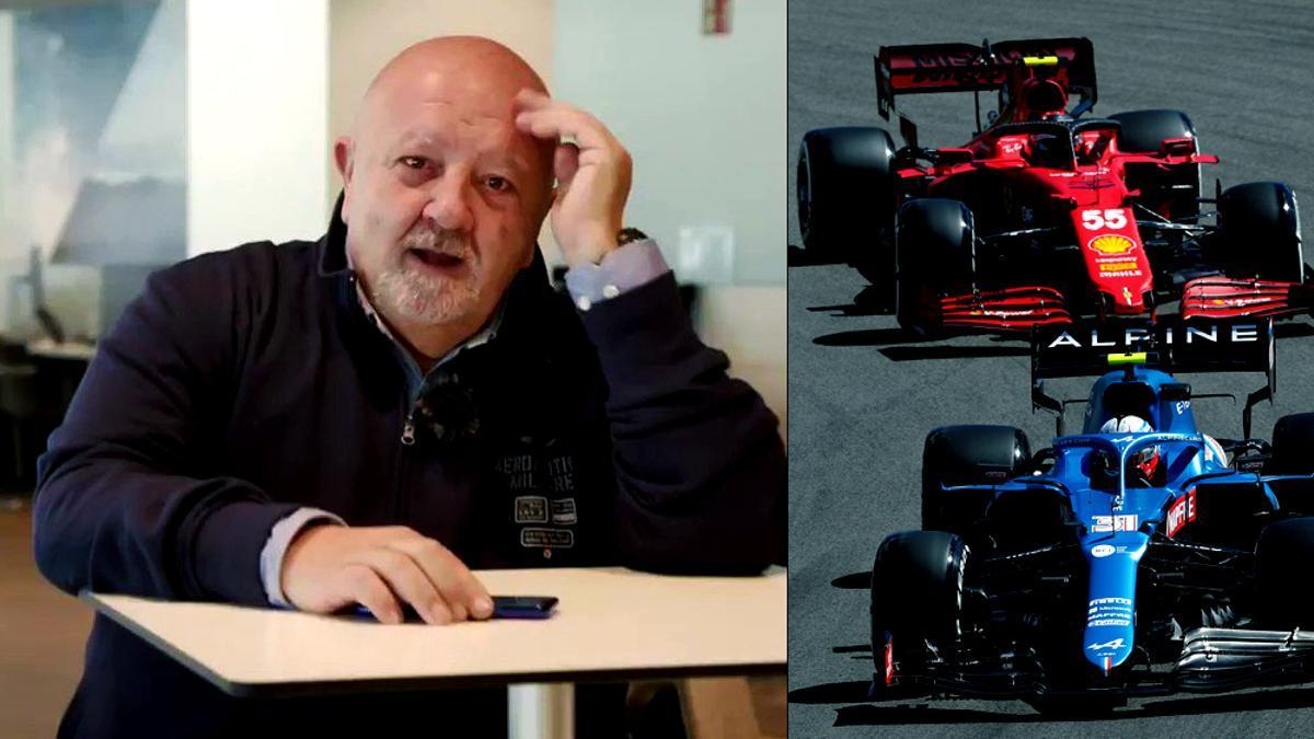 Gonzalo Serrano, al volante de la F-1 en Telecinco