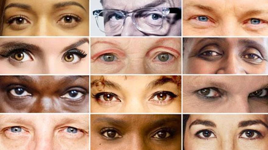 Miradas de la campaña 'Eyes on Paris'. Imagen: Oxfam.