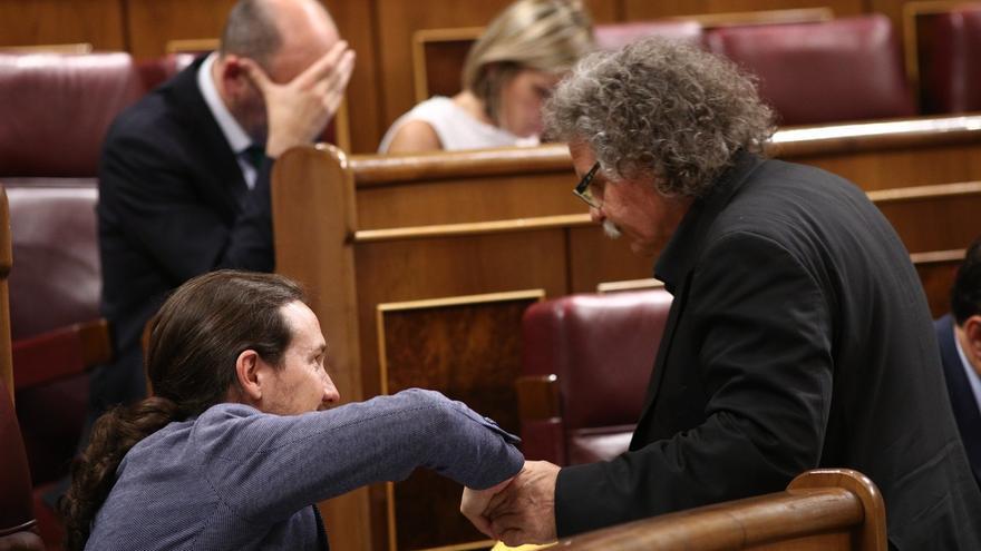 """Pablo Iglesias pide a ERC """"bajar el tono"""" y que respete que """"se puede pensar distinto"""" sobre el referéndum"""