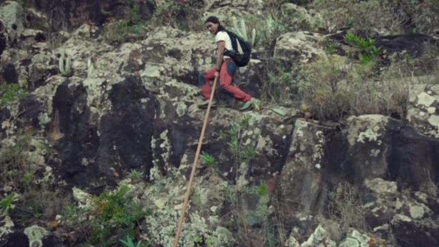 Captura de pantalla del documental del Salto del Pastor de National Geographic