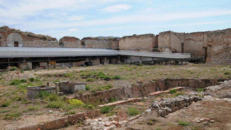 Alcázar de Guadalajara, hoy en ruinas y parcialmente excavado