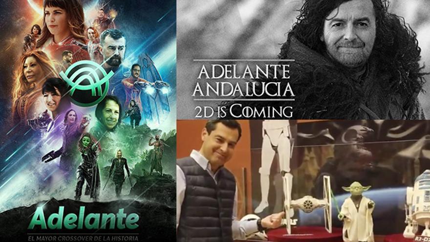 La campaña andaluza de PP y Adelante Andalucía con Juego de Tronos o Star Wars
