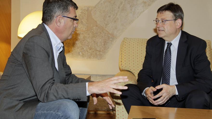 Los presidentes de Les Corts y la Generalitat Valenciana, Enric Morera y Ximo Puig