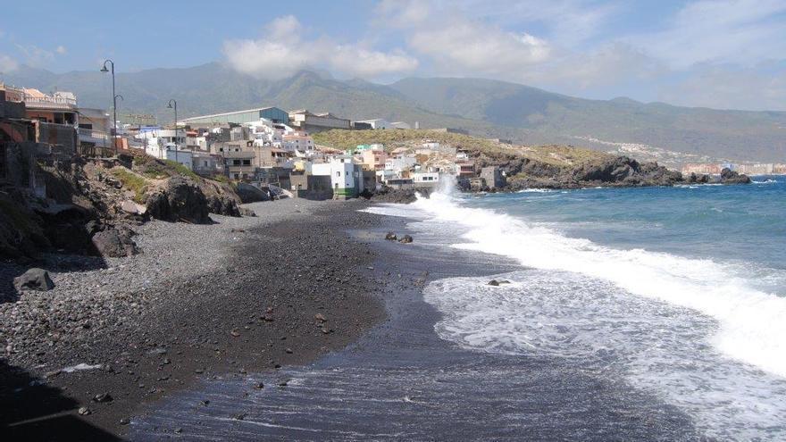 Imagen de archivo de playa de la Viuda, en Candelaria (Tenerife)