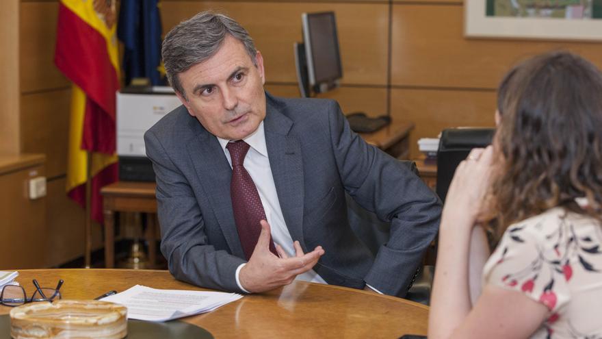 El secretario de Estado de Infraestructuras, Transportes y Vivienda, Pedro Saura
