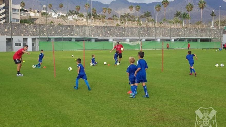 Imagen del entrenamiento del pasado miércoles en el sur de la Isla.