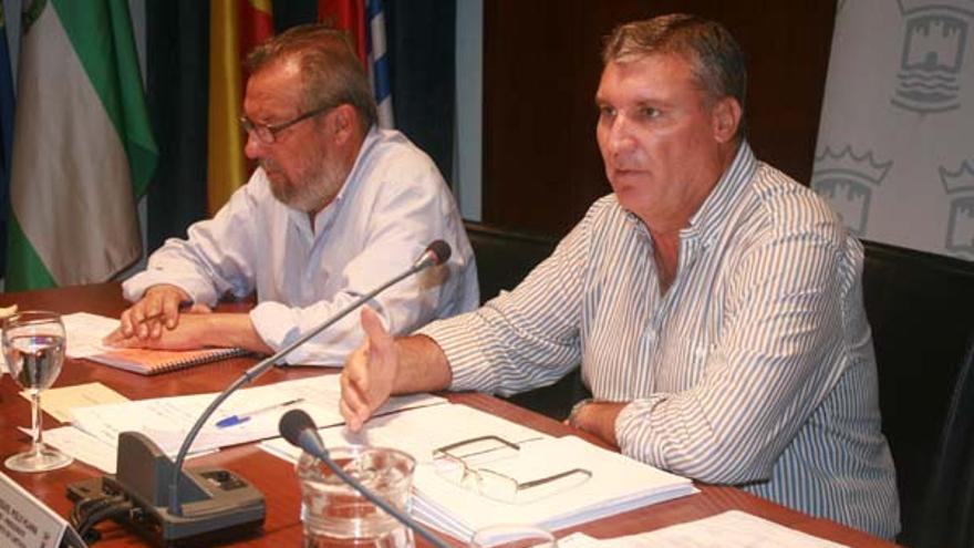Juan Polo -derecha-, presidente de Independientes Coalición por Huelva (ICxH).