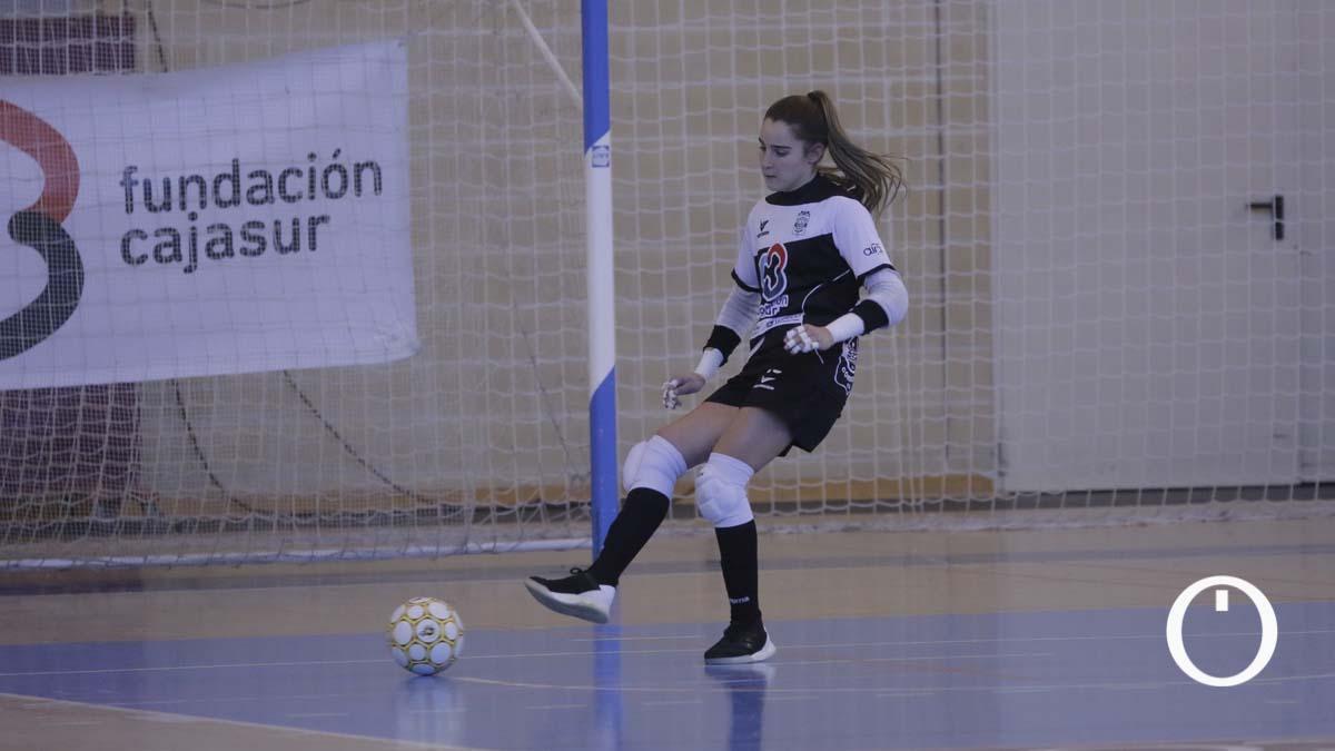 Ceci Moreno, en un partido del Deportivo Córdoba