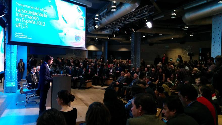 José María Álvarez Pallete, presentación Informe Sociedad de la Información, Fundación Telefónica