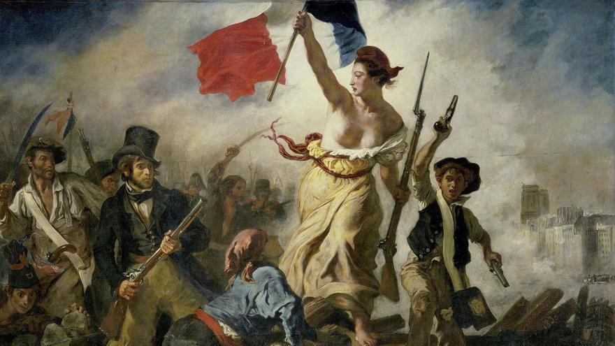 'La libertad guiando al pueblo' de Eugène Delacroix