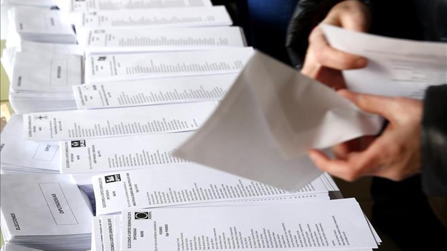 Candidatos IU-Zamora se encuentran con papeletas PP en sobres al ir a votar