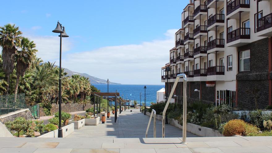 Imagen de la zona turística de Los Cancajos, en Breña Baja.