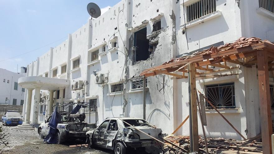 El hospital de Beit Hanún muestra los daños de los ataques israelíes. Foto: Isabel Pérez